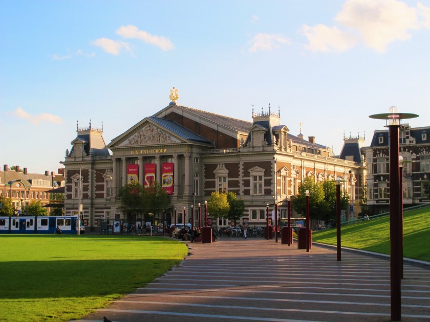 The Concertgebouw in Amsterdam, considered one of the finest concert halls in the world.