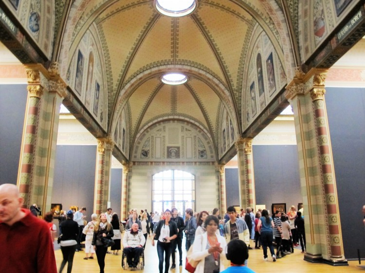 The main hall of the Rijksmuseum