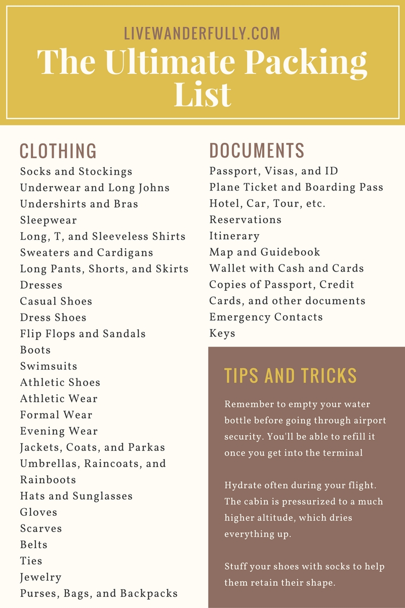 the-ultimate-packing-list