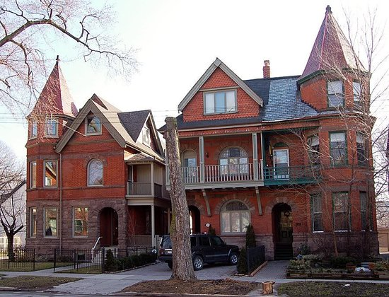 Two houses in the Annex, Toronto's historic neighbourhood